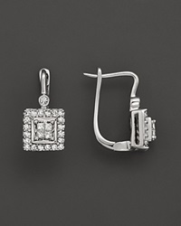 Bloomingdale's Princess Cut Diamond Earrings In 14K White Gold .30 Ct. T.W. No Color