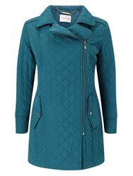 Eastex Asymmetric Padded Coat Turquoise
