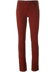 Joseph Slim Fit Trousers Red