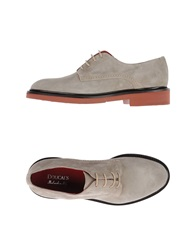 Doucal's Lace Up Shoes Light Grey