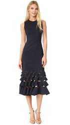 Dion Lee Slashed Ruffle Shift Dress Ink