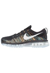 Nike Performance Flyknit Max Neutral Running Shoes Black Summit White Blue Glow Bright Citrus Green Glow