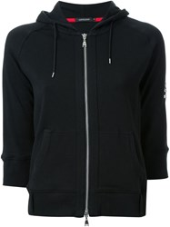 Loveless Skull Embroidery Zipped Hoodie Black