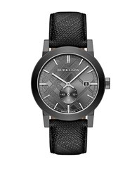 Burberry Mens The City Gray Stainless Steel Watch Grey