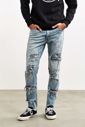 Levi's Shredded Light Bleach Wash 510 Skinny Jean Vintage Denim Light