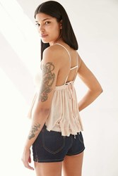 Truly Madly Deeply Amelia Tie Back Babydoll Cami Pink