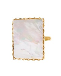 Lana Jewelry 14K Yellow Gold Costa Blanca Mother Of Pearl Ring