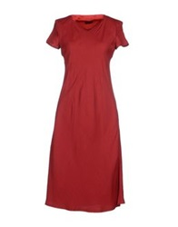 Tombolini Knee Length Dresses Maroon