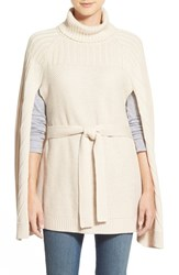Women's Halogen Belted Turtleneck Poncho
