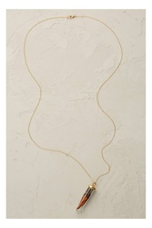 Catherine Weitzman Monarch Necklace Dark Orange