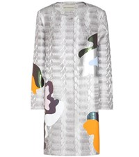 Mary Katrantzou Jacquard Coat Metallic