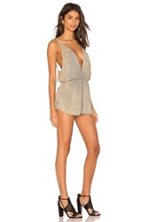 Blue Life Pool Party Romper Tan