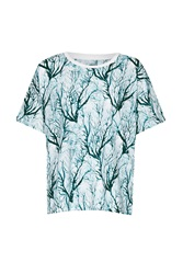 French Connection Sea Fern Holiday T Shirt Green