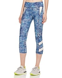 Zobha Reptile Print Active Capri Leggings Compare At 75 Diva Blue