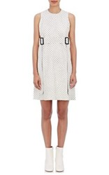 Calvin Klein Collection Women's Kyra Tris L Polka Dot Leather Sheath Dress Ivory