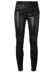 Giamba Leather Effect Skinny Trousers Black