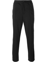 Lanvin Pleated Detail Track Trousers Black