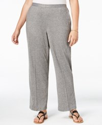 Alfred Dunner Plus Size Acadia Collection Pull On Straight Leg Pants Oxford