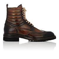 Harris Men's Wingtip Boots Brown