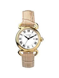 Links Of London Driver Round Womenstan Leather Watch Brown