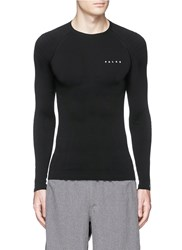 Falke 'Athletic' Long Sleeve Running Shirt Black