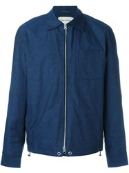 Oliver Spencer 'Dover Zip Up Chambray' Jacket Blue