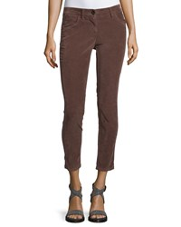 Brunello Cucinelli 5 Pockets Skinny Cropped Pants Fox