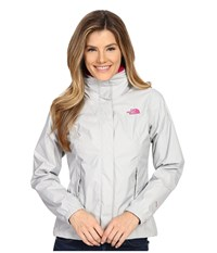 The North Face Resolve Jacket High Rise Grey Glo Pink Women's Coat