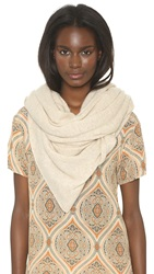 White Warren Cashmere Travel Wrap Scarf Birch Heather