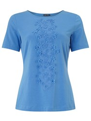 Gerry Weber Applique Flower T Shirt Azure