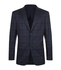 Z Zegna Overcheck Flannel Jacket Male Dark Grey