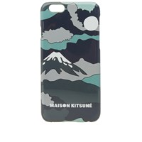 Maison Kitsune Landscape Iphone Case Green