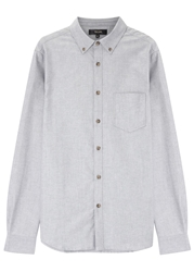 Villain Blue Cotton Oxford Shirt