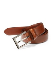 Saks Fifth Avenue Leather Belt Tan Brown