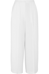 Iris And Ink Ingrid Crepe Cropped Wide Leg Pants White