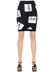 Moschino Shopping Bag Wool Knit Pencil Skirt