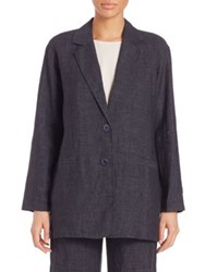 Eileen Fisher Delave Oversized Linen Blazer Denim