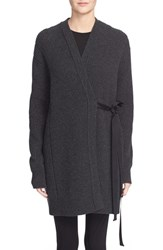 Helmut Lang Women's Wool And Cashmere Ribbon Tie Wrap Cardigan