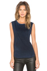 Tyler Jacobs Cut Off Tank Blue
