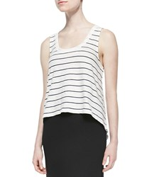 Soft Joie Macaire Striped Slub Tank Porcelain