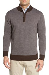 Peter Millar Men's Quarter Zip Merino Wool Sweater
