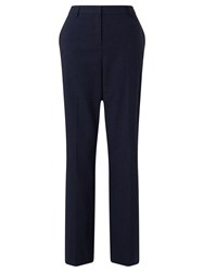 John Lewis Straight Leg Flannel Trousers Navy