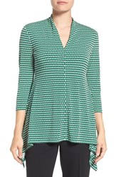 Chaus Women's Optic Check V Neck Top