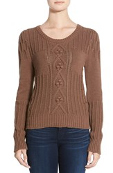 Plenty By Tracy Reese Cable Knit Sweater Taupe