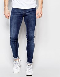 Dr. Denim Dr Denim Jeans Kissy Low Spray On Extreme Super Skinny 2Nd Hand Light Wash Blue