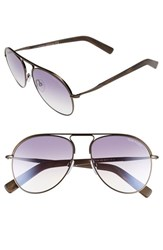Women's Tom Ford 'Cody' 56Mm Aviator Sunglasses Shiny Dark Brown Gradient