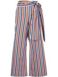 Tanya Taylor 'Sahara' Tie Waist Cropped Trousers White