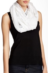 Betsey Johnson Mixed Lace Infinity Scarf White