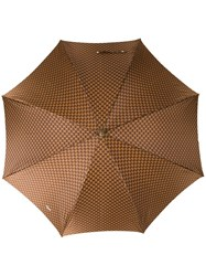 Celine Vintage Logo Print Umbrella Brown