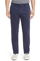Brax Men's Big And Tall 'Evans' Flat Front Chinos Perma Blue